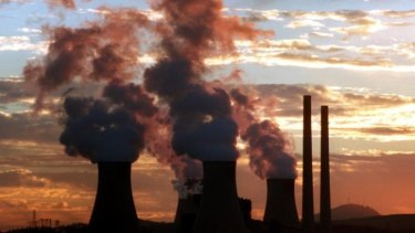 Steam rises from the cooling towers of a Hunter Valley power station.