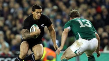 Williams in action for the All Blacks.