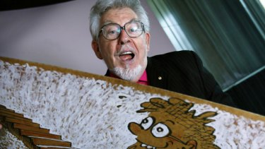 Rolf Harris and his wobbleboard, which was a last-minute addition to the soundtrack of the movie Australia.