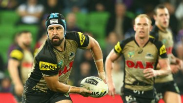 Out of favour: Jamie Soward has been relegated to the NSW Cup from the Panthers first-grade side.