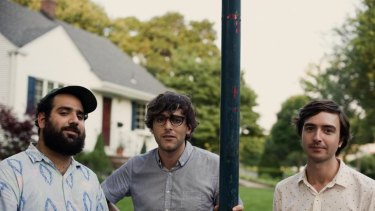 Matt Mondanile (centre) and his bandmates in Real Estate transcend their ''summery'' label.