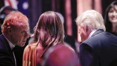 Visy billionaire Anthony Pratt with Donald Trump in New York earlier this month.