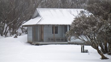 Federation Hut on the day Tim Holding went missing.