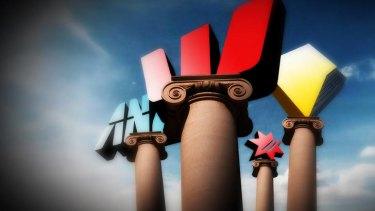 A fifth pillar? ... Australia's big four banks could soon have a new rival. Illustration: Karl Hilzinger