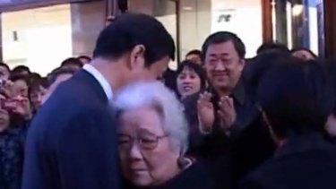 Still with many supporters … the Chinese political maverick Bo Xilai, now jailed, with his mother-in-law, Fan Chengxiu. He is said to be defiant in prison.