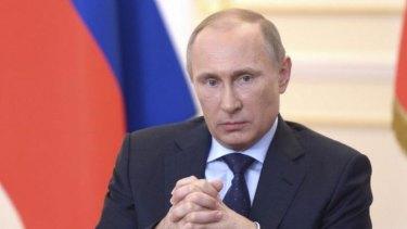 Defiant: Russian President Vladimir Putin.