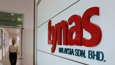 Lynas shares have been hit hard after coming under pressure from the Malaysian government