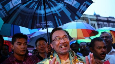 Malaysia's now-jailed opposition leader Anwar Ibrahim, photographed last year.