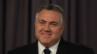"""Joe Hockey: """"Fully funded by abolishing the existing scheme, and importantly by imposing the 1.5 per cent levy on the largest businesses""""."""