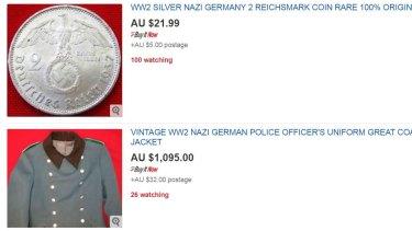 Naza paraphernalia is for sale on eBay.