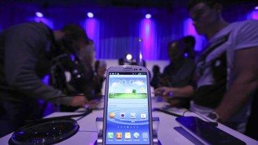 The new Galaxy S III smartphone.