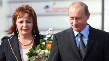 Vladimir Putin and his former wife Lyudmila Putina.