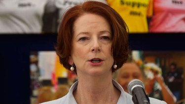 Victim of online assaults ... Prime Minister Julia Gillard.