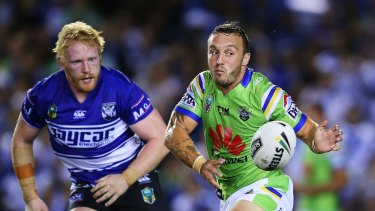 Raiders hooker Josh Hodgson is in doubt to face the Sharks on Sunday.