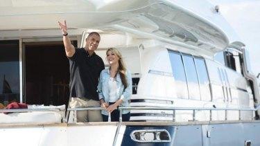'I, hand on heart, love you': Sam tells Blake how she feels on the super yacht.