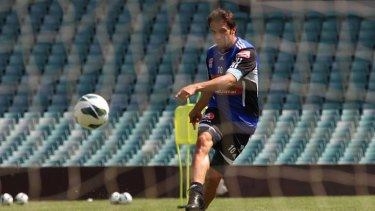 Back ... Alessandro Del Piero training on Thursday after shaking off an injury.