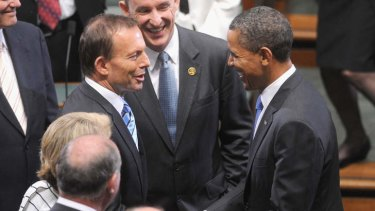 Talks: Tony Abbott is set to discuss a broad range of issues with US President Barack Obama during his North American tour.