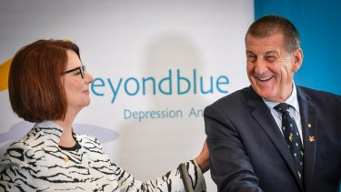 Julia Gillard replaced Jeff Kennett as beyondblue chair,.