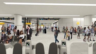 The new pedestrian link at Central Station will be 19 metres wide.