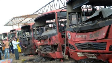 Horrific result ... An explosion at a bus station packed with morning commuters on the outskirts of Nigeria's capital killed dozens of people, in what appeared to be the latest attack by Boko Haram Islamists.