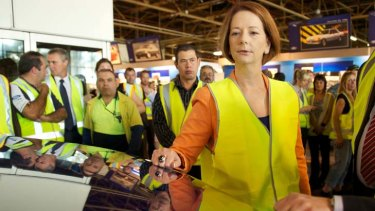 """""""We are making the prudent decisions"""" ... Prime minister Julia Gillard."""