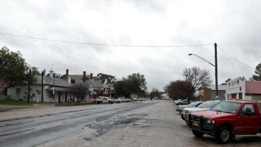 Tiny town ... the main street of Cumnock, 45 minutes from Orange.