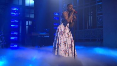 Watch Kid Cudi perform his song 'Sad People' on Saturday Night Live.