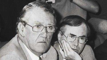 Prime Minister Malcolm Fraser and Treasurer John Howard in 1982.