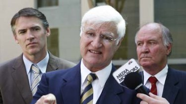 The three independents, Robert Oakeshott, Bob Katter, and Tony Windsor.