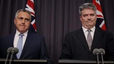 Treasurer Joe Hockey and Finance Minister Senator Mathias Cormann announce the establishment of a Commission of Audit on October 22. 2013.