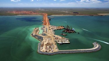 Entrepot: The Gorgon project's offloading facility in Western Australia.