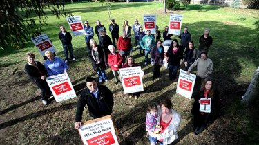 Taylors Lakes residents protest Brimbank Council's plan to sell off Cohuna Court.