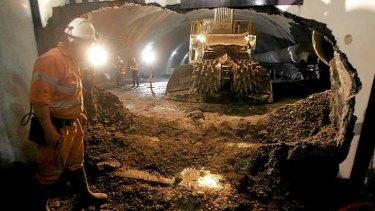 EastLink tunnel under construction in 2006.