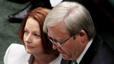 Kevin Rudd's only option is to sit pat and to wait to see if the leadership comes to him.