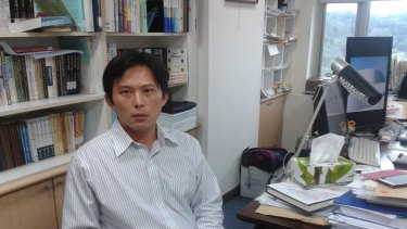 Sunflower Movement activist and legal scholar Huang Kuo-chang.