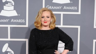 Red carpet style ... Adele.