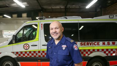 Paramedic Glyn Perryman, who helped Chris Lee after he was left for dead.