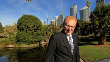 Platform to build on … the new chairman of the Royal Botanic Gardens and Domain Trust, Ken Boundy, yesterday.