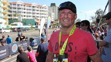 Matt Golinski completed the half marathon at the 2013 Sunshine Coast Marathon.