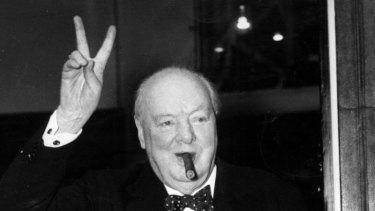 Britain's war-time prime minister Winston Churchill.