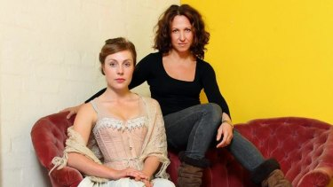 Certain similarities: Matilda Ridgway (left) as Nora in A Doll's House with Blazey Best as the modern-day Nora.