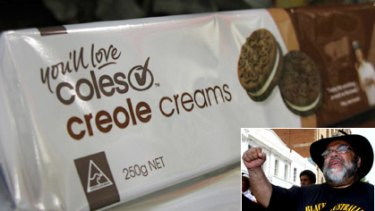 The name of Coles' Creole Creams has come under fire from University of Queensland academic Sam Watson (inset).