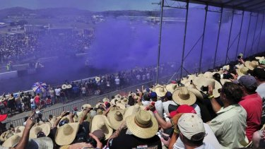 Crowds at Summernats over the weekend.
