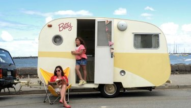Vanguard: Felicity Young and daughter Zara with Betsy.