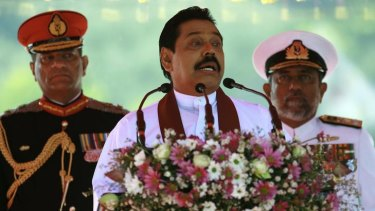An attempt to bring a  private case against Sri Lankan President Mahinda Rajapaksa, above, for war crimes during the Tamil conflict was quashed by Attorney-General Robert McClelland.