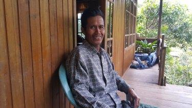 Idris, the former head of Bone-Bone, a village in Sulawesi that banned smoking.