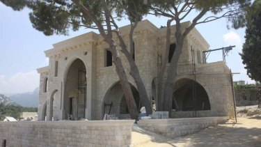 Wealth and power: Eddie Obeid's house in the Lebanese town of Matrite.