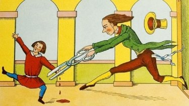 Sharp edged: an illustration from Heinrich Hoffmann's classic <em>Der Struwwelpeter</em>.