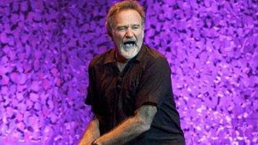 Robin Williams at Rod Laver Arena on Sunday night.