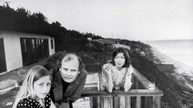 Happier times ... Didion in 1976 with her husband, Gregory Dunne, and daughter Quintana, whose death she writes about in <i>Blue Nights</i>.